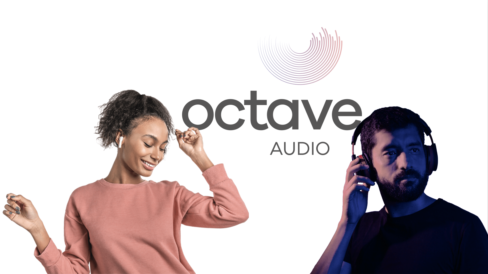 Octave people in headphones and logo