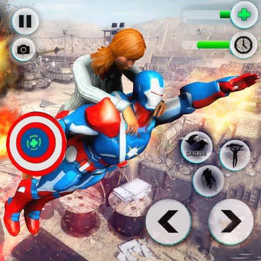 Direct Download Flying Robot Captain Superhero Games City