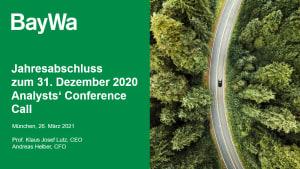 Präsentation Analysten Conference Call Jahresabschluss 2020