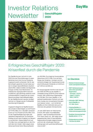 IR-Newsletter GJ 2020
