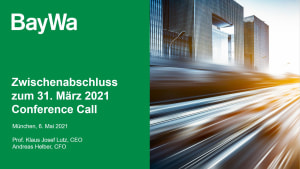 Präsentation zum Conference Call Q1 2021