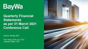 Presentation Conference Call Q1 2021