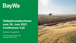 Präsentation zum Conference Call Q2 2021