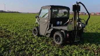 GPS-gestützte Bodenproben