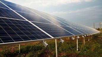 Solarenergie in Gujarat, Indien