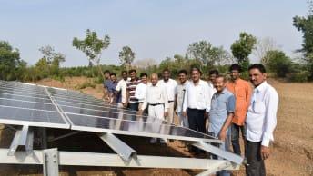 Solarenergie in Guttigoli, Indien