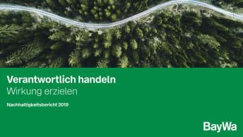 Titelseite Nachhaltigkeitsbericht 2019
