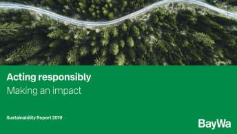 Cover Sustainability Report BayWa 2019