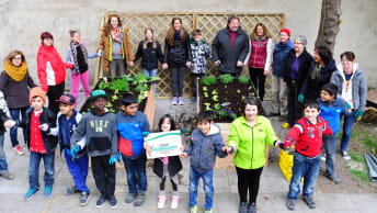 A vegetable garden for the Tillmann children and youth centre.