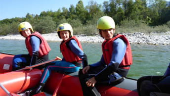 Rafting as an adventure educational measure at the Tillmann children and youth centre.