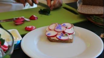 Video-Tutorial: Brot mit Radieschen