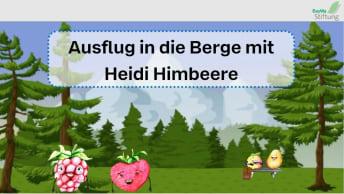Lernspiel Heidi Himbeere für Vitamine