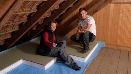 Dachboden- und Kellerdeckendämmung: So verlegen Sie richtig