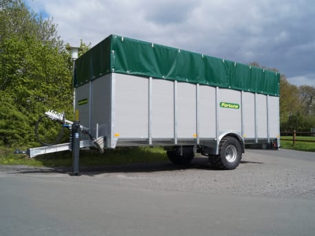 Einachs-Viehtransporter