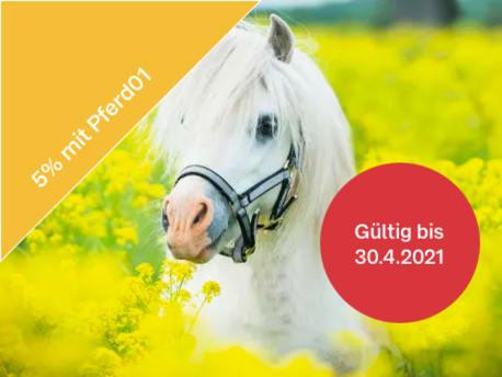5 % Rabatt auf Pferdefutter in den Frühlingssparwochen*