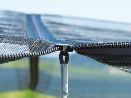 Schutznetzsystem mit Reißverschluss-Verfahren