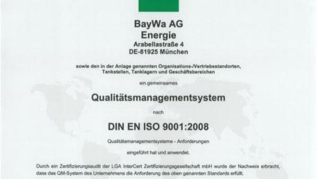 BayWa Zertifikat