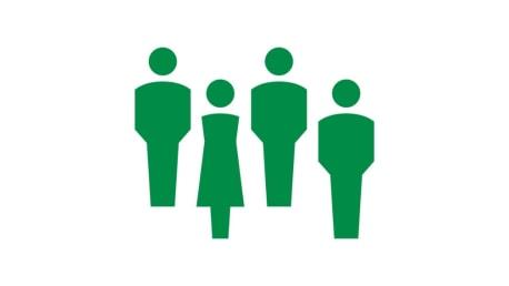 Piktogramm Gruppe von Menschen