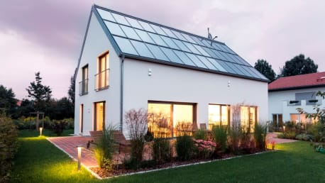The picture shows an Energy Efficiency House Plus