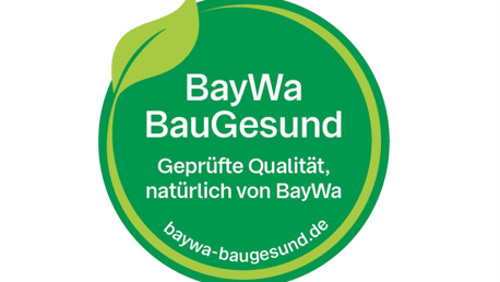 Picture shows the BauGesund seal