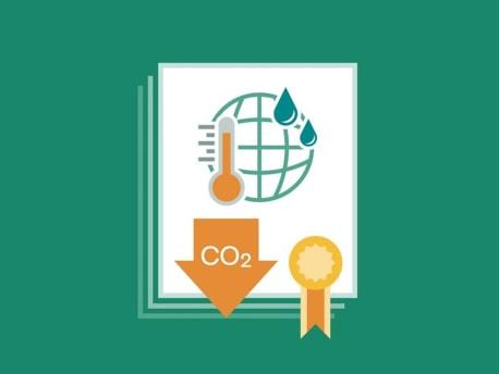 Grafik  für das CO2 Zertifikat