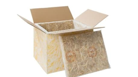 Picture shows a straw fiber box