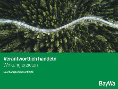 Titelbild Nachhaltigkeitsbericht BayWa 2019