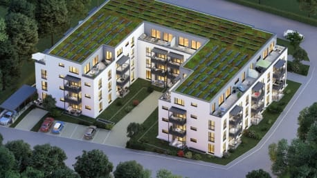 The picture shows the future-oriented living project Novum