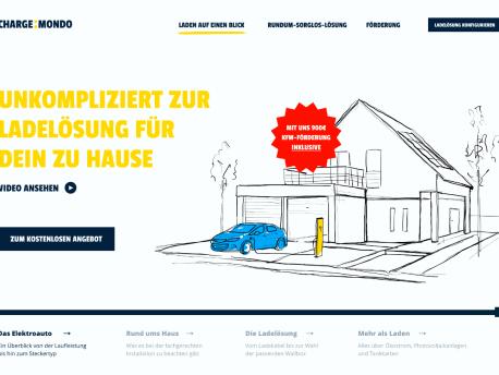 Screenshot der Chargemondo Homepage
