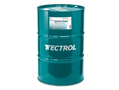 Grüne Tonne mit Gasmotorenöl der Marke Tectrol