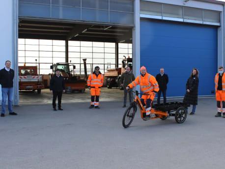 Das Bild zeigt ein Gleam Lastenrad
