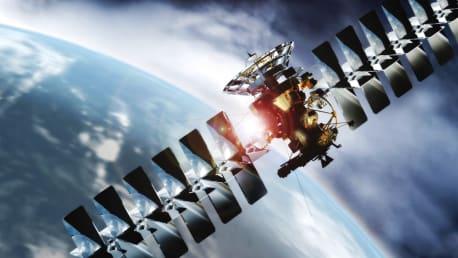 Satellit im All