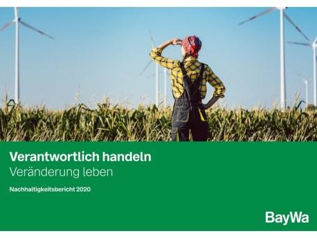 Das Bild zeigt das Cover des Nachhaltigkeitsberichts 2020