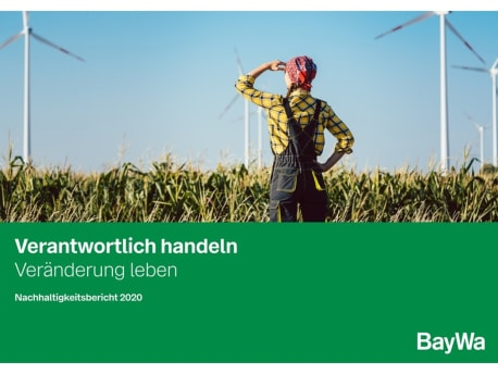 Titelbild Nachhaltigkeitsbericht BayWa 2020