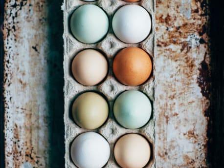 Weiße, braune, grüne oder sogar blaue Eier?  So was gibt´s!