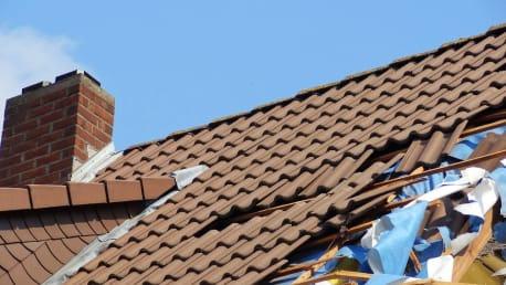 Abgedeckte Dächer - Windstärke 10