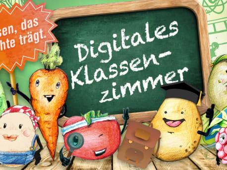 Das Digitale Klassenzimmer mit den Ernährungshelden!