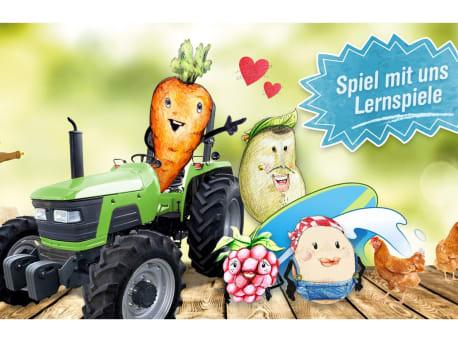 Online-Lernspiele zu gesunder Ernährung für Kinder