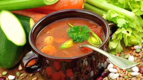 Geröstete Grünkernsuppe