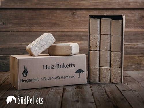 Hartholzbriketts eckig