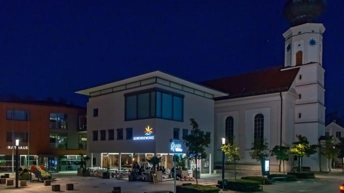 Gemeindewerke bei Nacht
