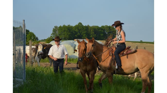 Reiter und Reiterin