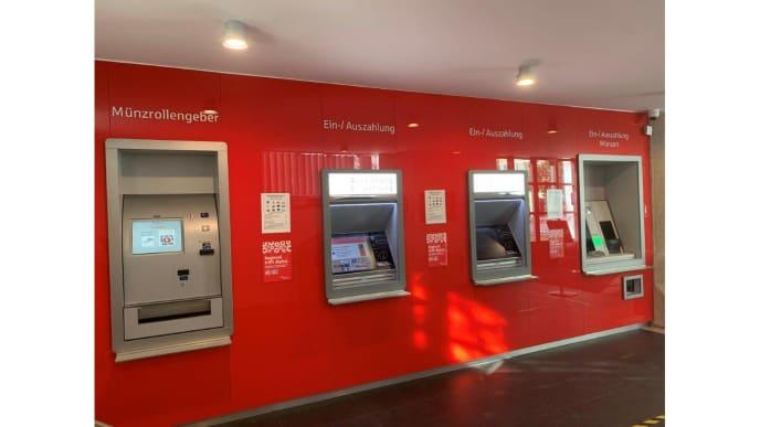 Glaswand Sparkassenautomat