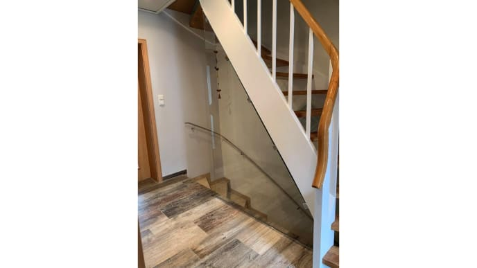 Glaswand Treppenaufgang