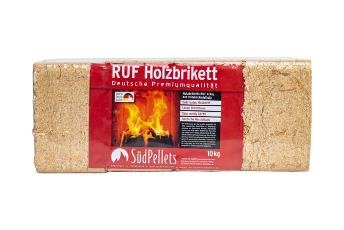 Holzbriketts eckig