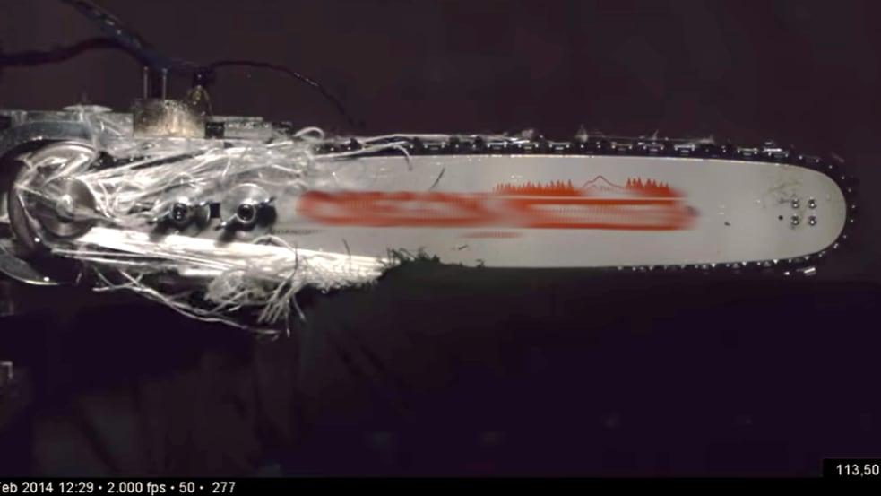 Schnittschutzhosentest Video-Thumbnail