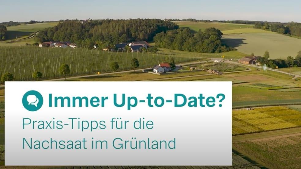 Immer Up-to-Date: Praxis-Tipp für die Nachsaat im Grünland