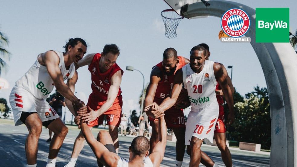 Logo BayWa und FC Bayern München Basketball