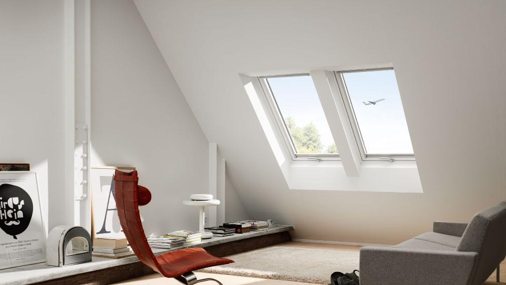 Velux Dachfenster Flugzeug
