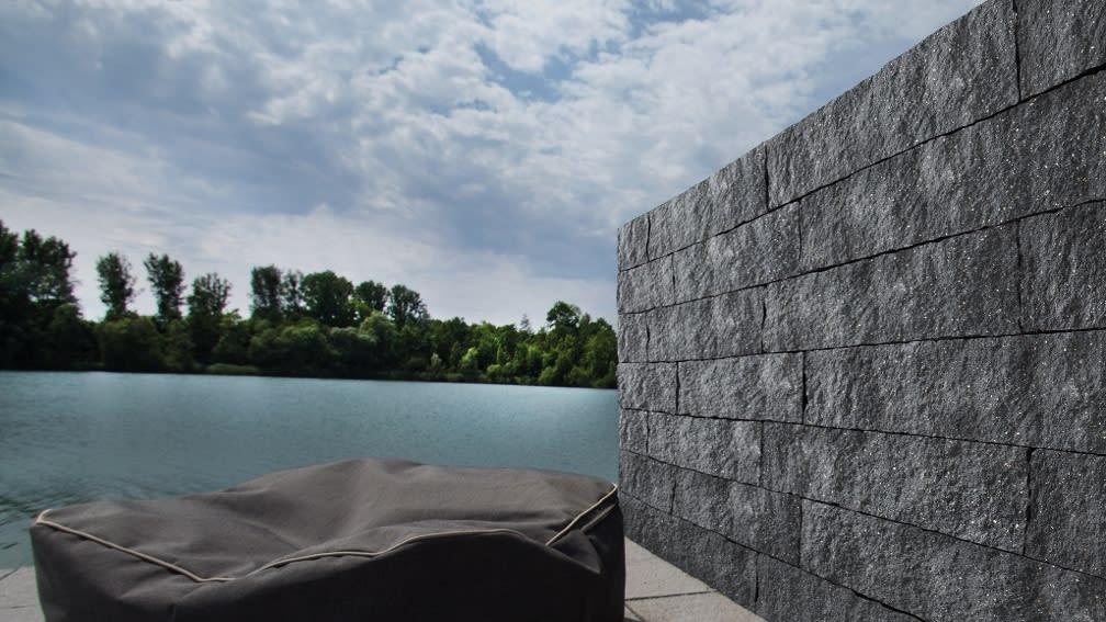 Sichtschutz aus Mauersteinen